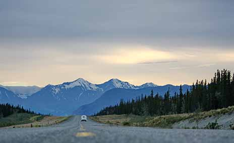 Hitch-hiked across Canada to Alaska